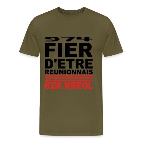 Fier d'etre reunionnais - T-shirt Premium Homme