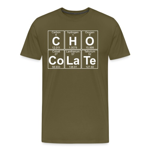 C-H-O-Co-La-Te (chocolate) - Full - Men's Premium T-Shirt