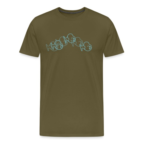 huele bien azul - Camiseta premium hombre