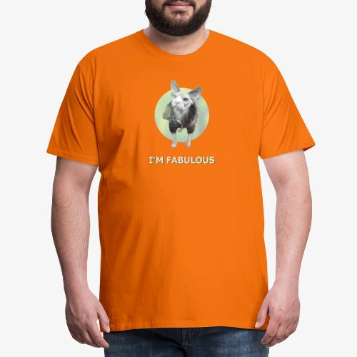 I'm fabulous with the Cat - Männer Premium T-Shirt