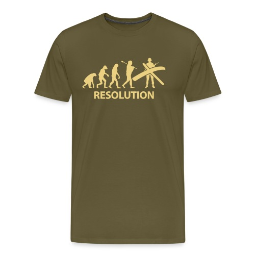 Resolution Evolution Army - Men's Premium T-Shirt