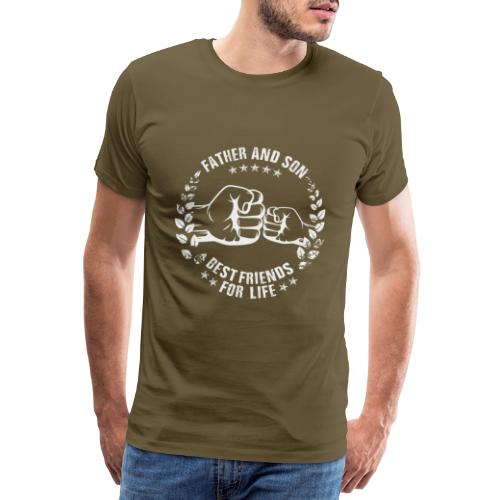 Father and Son best friends for life - Männer Premium T-Shirt