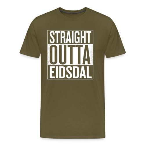 straightouttaeidsdal png - Premium T-skjorte for menn