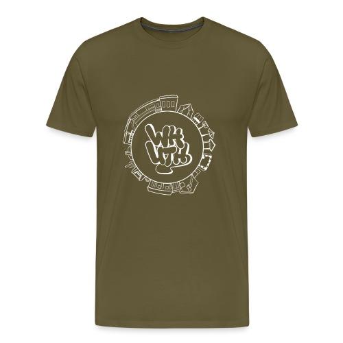 Waldheimlogo, weiß (rebranding 2021 by Vivi J.) - Männer Premium T-Shirt