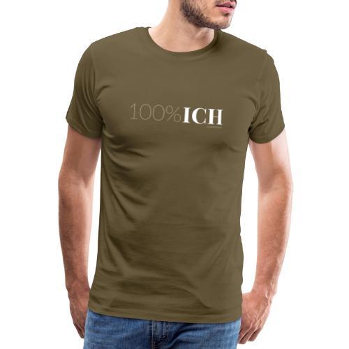 100%ICH weiss - Männer Premium T-Shirt