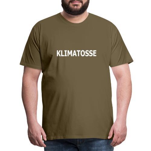 KLIMATOSSE HVID - Herre premium T-shirt