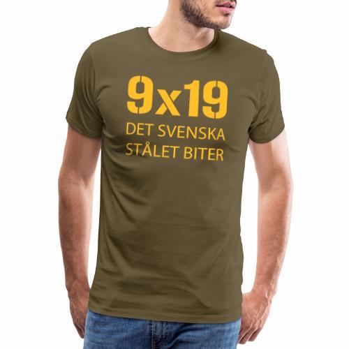 Det svenska stålet biter 9x19 - Premium-T-shirt herr