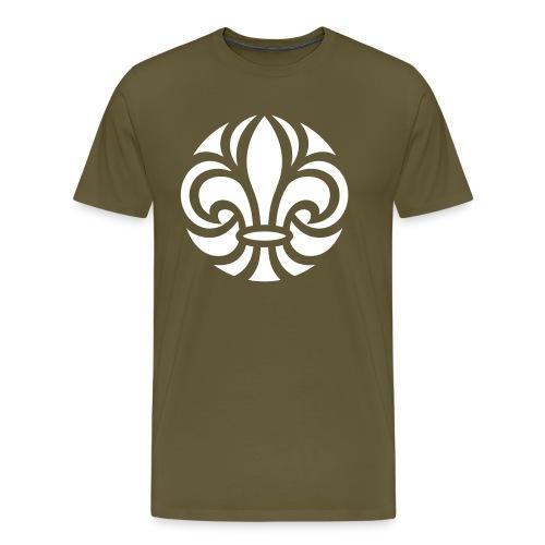 Scouterna-symbol_white - Premium-T-shirt herr