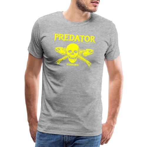 Predator fishing yellow - Männer Premium T-Shirt