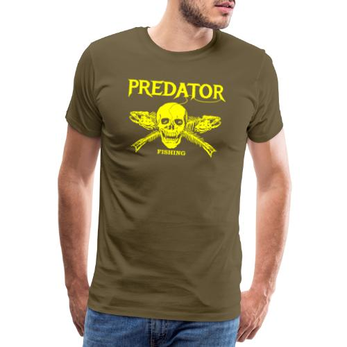 Predator fishing yellow - Männer Premium T-Shirt