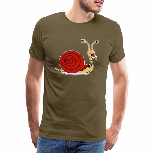 Escargot rigolo red version - T-shirt Premium Homme