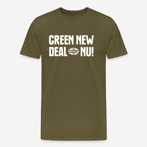 Green New Deal nu! - Premium-T-shirt herr