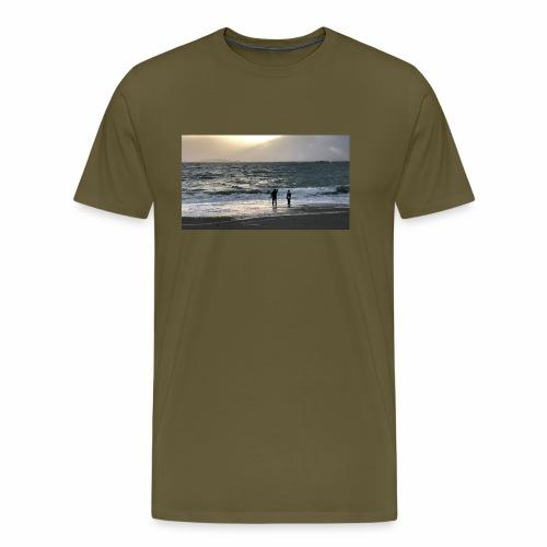 Silsanden i uvær - Premium T-skjorte for menn