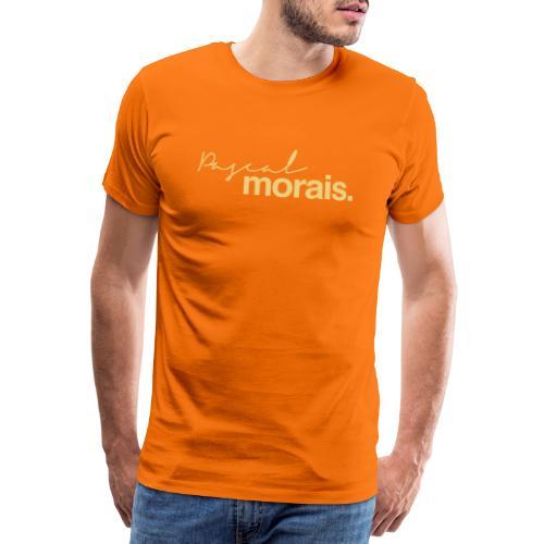 Pascal Morais logo creme/mocha - Men's Premium T-Shirt