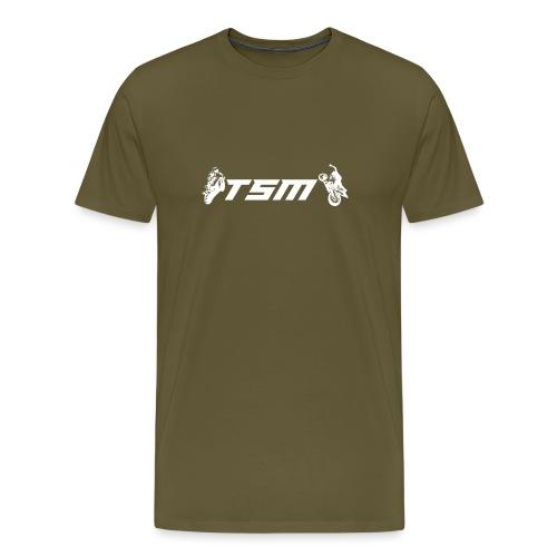 TSM OFFICIAL LOGO WHITE png - Premium-T-shirt herr