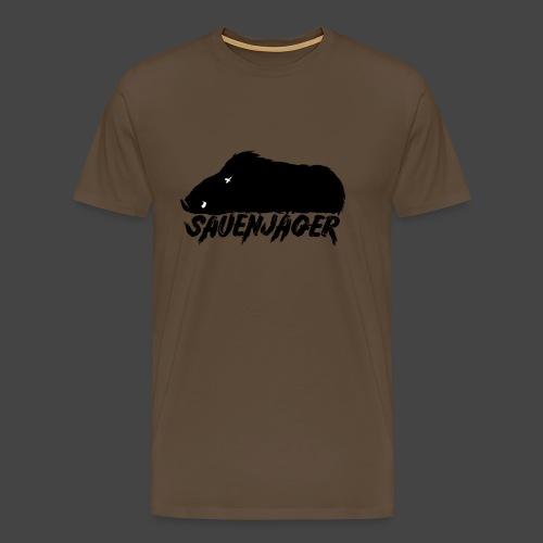 Der Sauenjäger-Shirt für Schwarzkitteljäger - Männer Premium T-Shirt