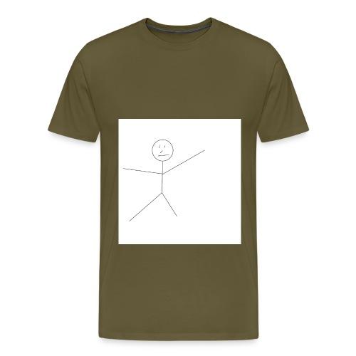 Badly Drawn Stickman - Men's Premium T-Shirt