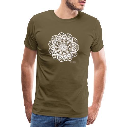 Granny´s Flower, valkoinen - Miesten premium t-paita