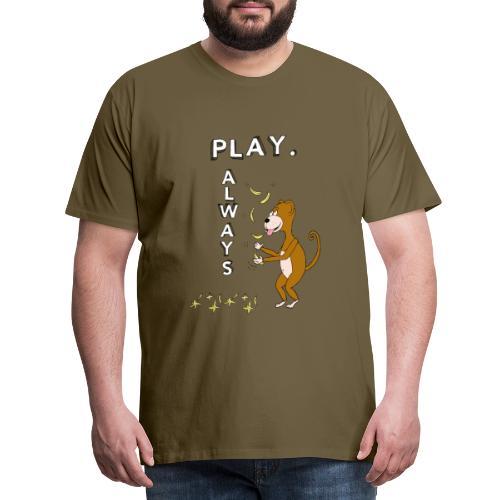 PLAY ALWAYS - JUGGLER MONKEY - Circus Lover - Maglietta Premium da uomo