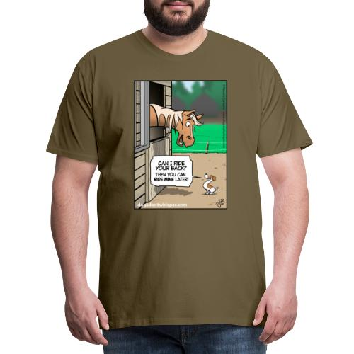 Horse & Jack Russell terrier dog - Men's Premium T-Shirt