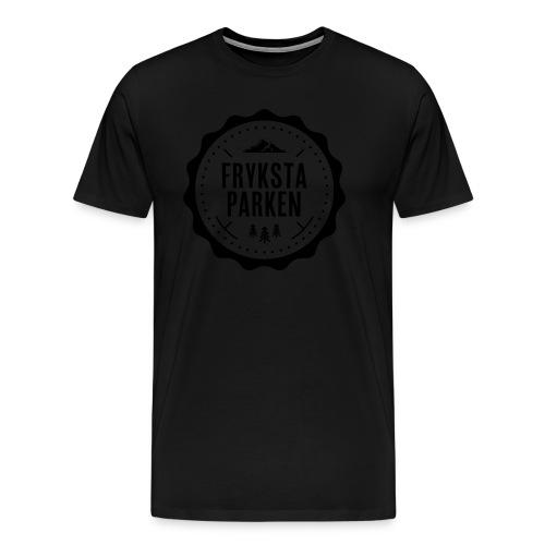 Frykstaparken logo vit - Premium-T-shirt herr