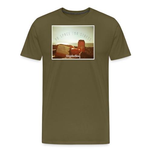 No Space For Stress - Men's Premium T-Shirt
