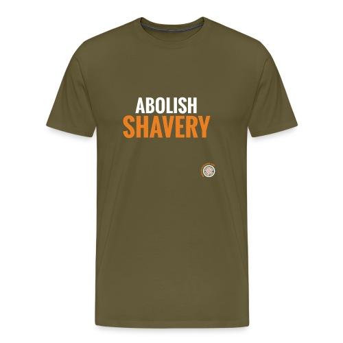 Abolish Shavery - Mannen Premium T-shirt