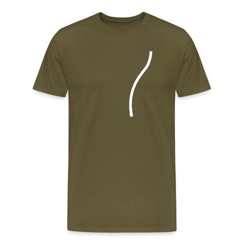 strop2 wit achterkant copy - Mannen Premium T-shirt