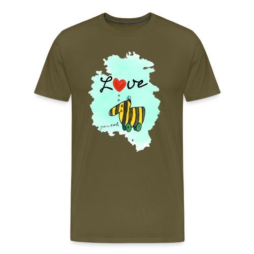 Janosch Verliebte Tigerente Herz Love - Männer Premium T-Shirt
