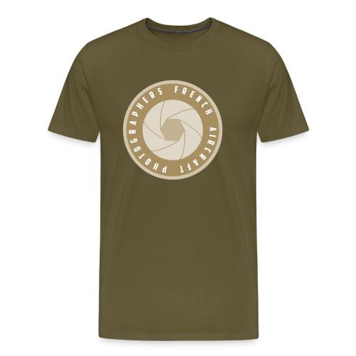 FAP French Aircraft Photographers Logo desert - T-shirt Premium Homme