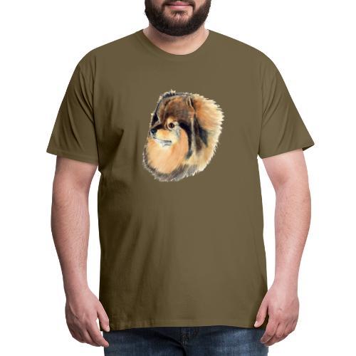 pomeranian 1 - Herre premium T-shirt
