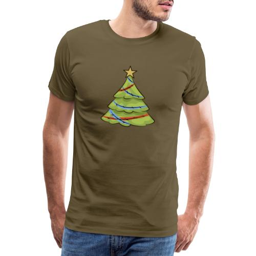 Christmas tree, tree, christmas, new year - Men's Premium T-Shirt