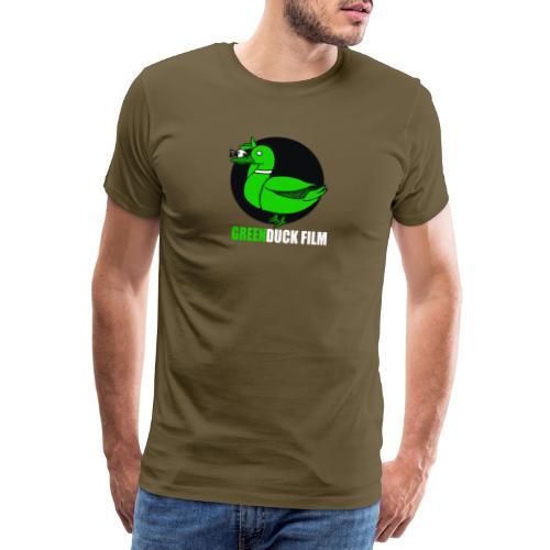 Greenduck Film white letters logo - Herre premium T-shirt