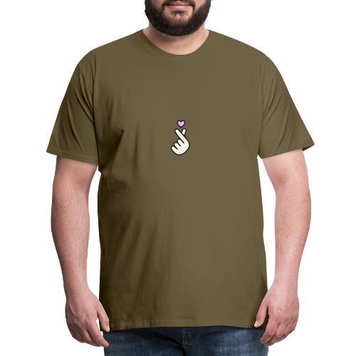 Korean Heart Finger - T-shirt Premium Homme