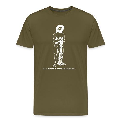 Torsson stenåldersgubbe - Premium-T-shirt herr