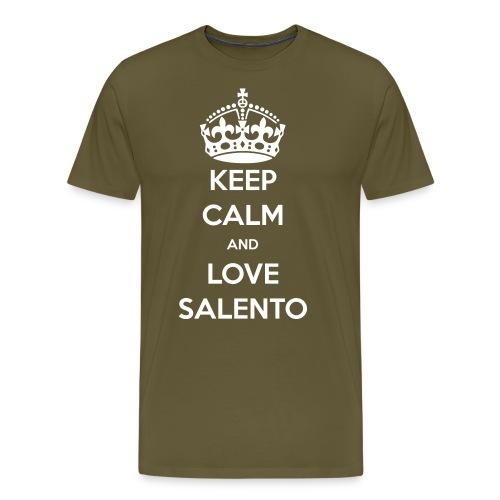 KEEP CALM LOVE SALENTO - Maglietta Premium da uomo