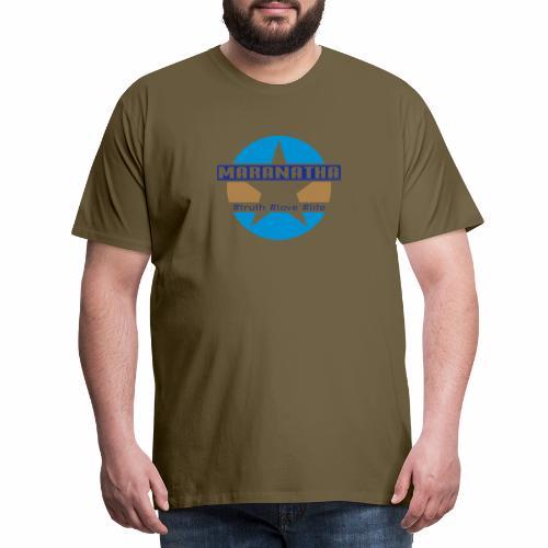 maranatha blau-braun - Männer Premium T-Shirt