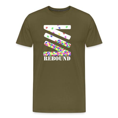 Falling logo - Men's Premium T-Shirt