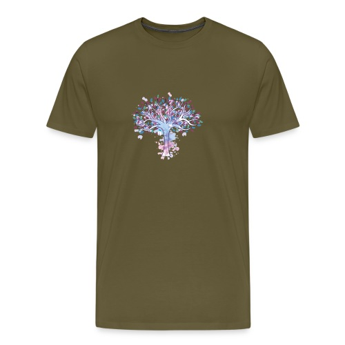 Árbol de la vida en acuarela - Camiseta premium hombre