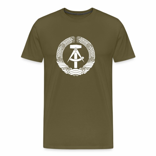 DDR Coat of Arms (white) - Men's Premium T-Shirt