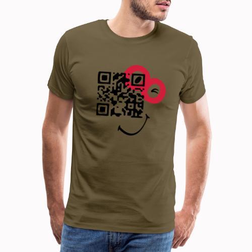 qr sorriso - Maglietta Premium da uomo
