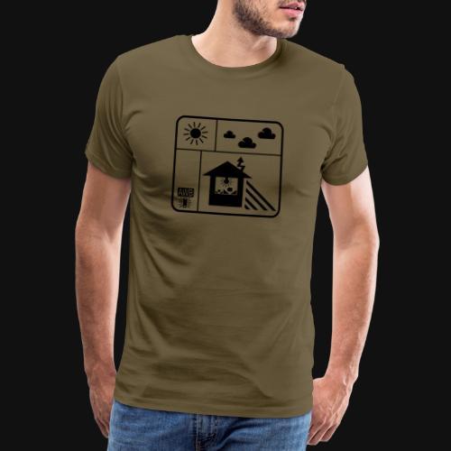 Happy White Balance - Männer Premium T-Shirt