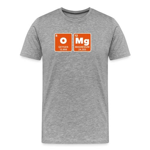 periodic table omg oxygen magnesium Oh mein Gott - Men's Premium T-Shirt