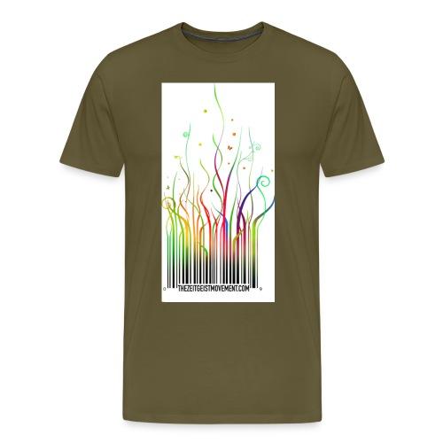 barcode rainbow en - Maglietta Premium da uomo