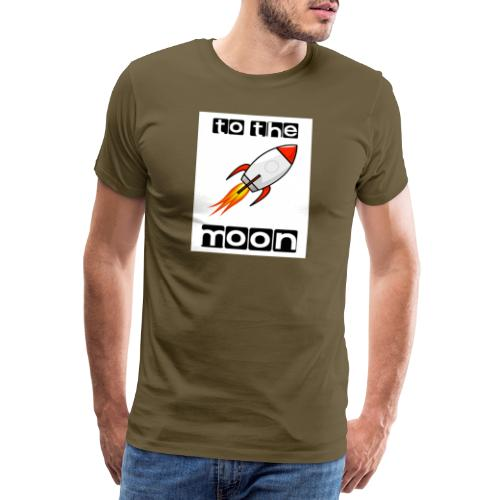 TO THE MOON - Herre premium T-shirt