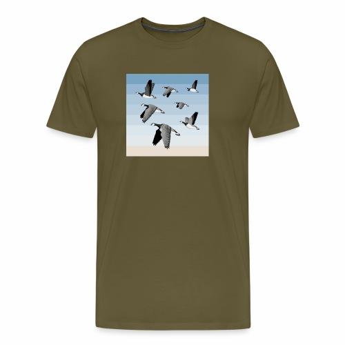 Barnacle goose flock - Men's Premium T-Shirt
