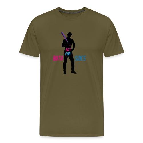 I bat for both sides male - Men's Premium T-Shirt