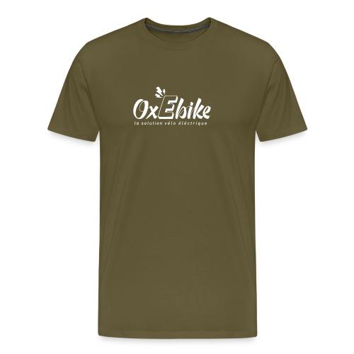 LOGO OX Ebike blanc 1 - T-shirt Premium Homme