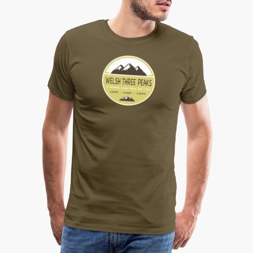 Welsh Three Peaks - Men's Premium T-Shirt