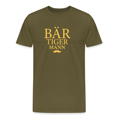 Bär-Tiger-Mann - Männer Premium T-Shirt